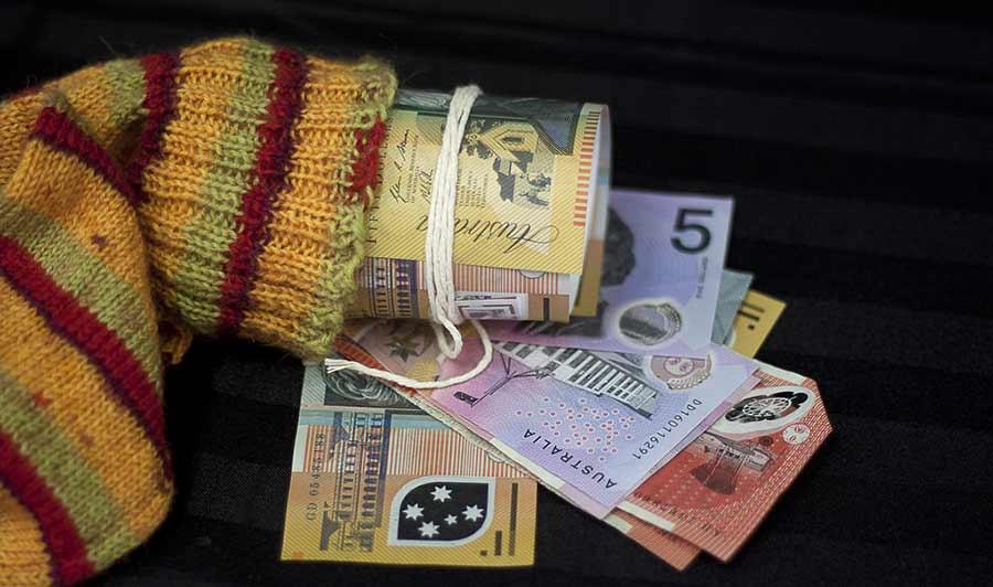 bankovky do ponožky